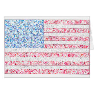American Flag Notecards Card