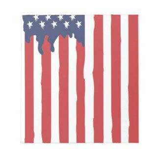american flag notepad
