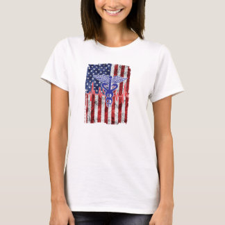 American Flag Nurse T-Shirt