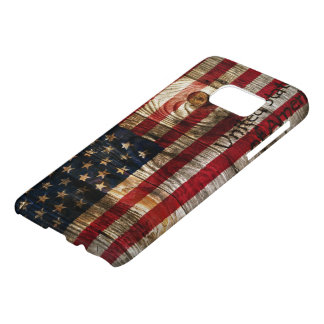 American flag on wooden board samsung galaxy s7 case