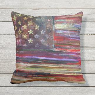 American Flag Original Artwork Throw Pillow