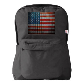 American Flag Painted Fence Backpack