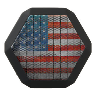 American Flag Painted Fence Black Bluetooth Speaker