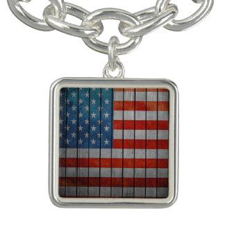 American Flag Painted Fence Bracelets