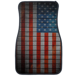 American Flag Painted Fence Car Mat