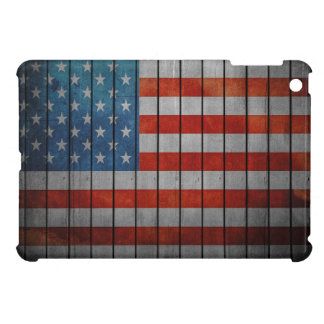 American Flag Painted Fence Case For The iPad Mini