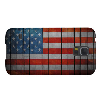 American Flag Painted Fence Cases For Galaxy S5