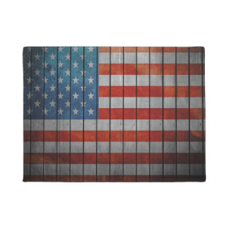 American Flag Painted Fence Doormat