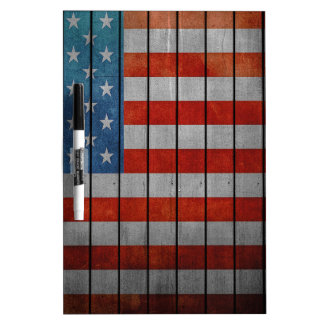 American Flag Painted Fence Dry Erase Board