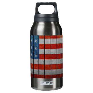 American Flag Painted Fence Insulated Water Bottle