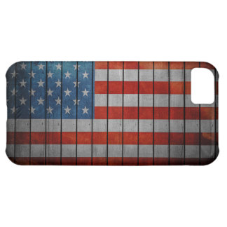 American Flag Painted Fence iPhone 5C Covers