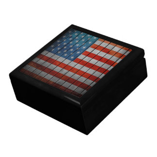 American Flag Painted Fence Jewelry Box