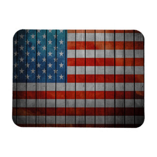American Flag Painted Fence Magnet