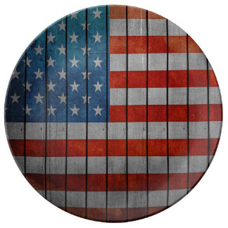 American Flag Painted Fence Plate