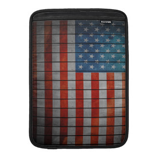 American Flag Painted Fence Sleeve For MacBook Air