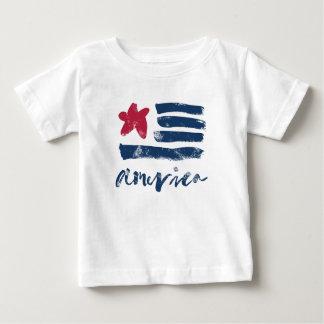 American Flag Paintstrokes Baby T-Shirt