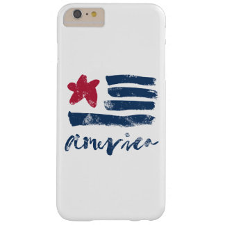 American Flag Paintstrokes Barely There iPhone 6 Plus Case
