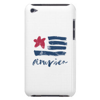 American Flag Paintstrokes iPod Case-Mate Case