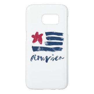American Flag Paintstrokes Samsung Galaxy S7 Case