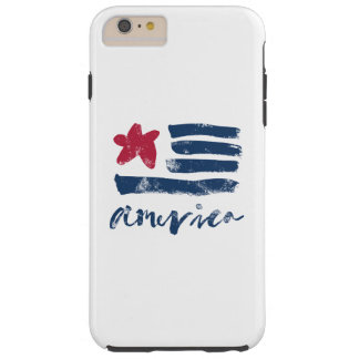 American Flag Paintstrokes Tough iPhone 6 Plus Case