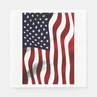 American Flag Paper Napkin