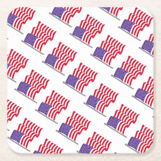 American Flag Party Supplies Square Paper Coaster