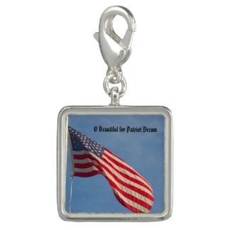 American Flag Patriot Dream Charm
