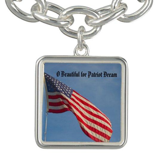American Flag Patriot Dream Charm Bracelet