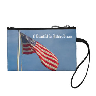 American Flag Patriot Dream Custom Coin Wallet