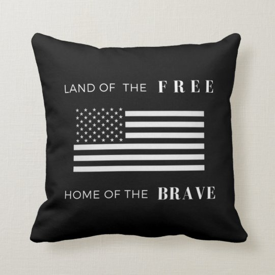 American Flag | Patriotic | 16x16 Throw Pillow