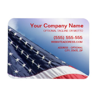 American Flag - Patriotic Business Flexible Magnet