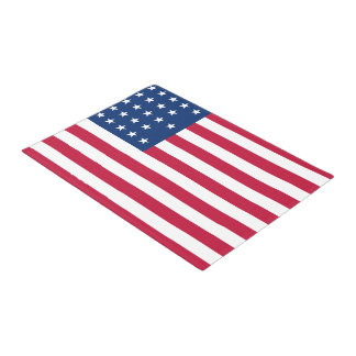 American Flag Patriotic Door Mat