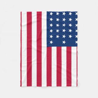 American Flag Patriotic Fleece Blanket
