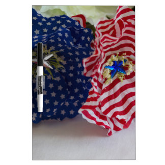 American Flag Patriotic Flower Bouquet Dry-Erase Whiteboards