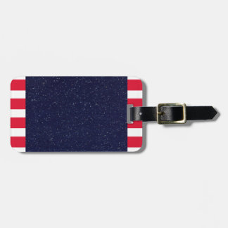 American Flag Patriotic Fourth of July Party Bag Tag