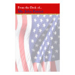 American Flag Patriotic Gift for Soldiers Stationery Design
