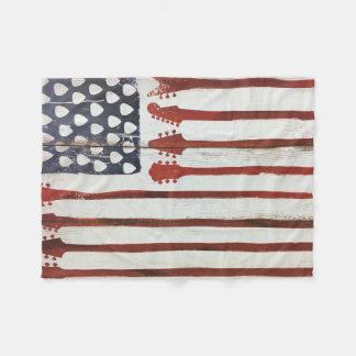 american flag patriotic Guitar Music blanket