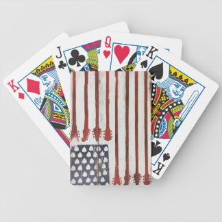 American Flag patriotic Guitar Music theme Bicycle Playing Cards