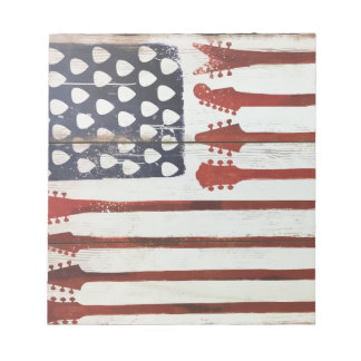 American Flag patriotic Guitar Music theme Notepad