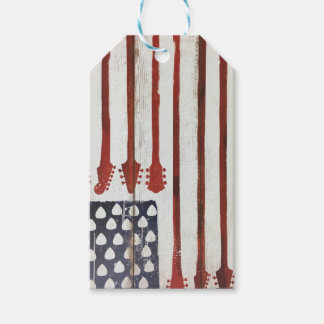 American Flag patriotic Guitar Music theme Pack Of Gift Tags