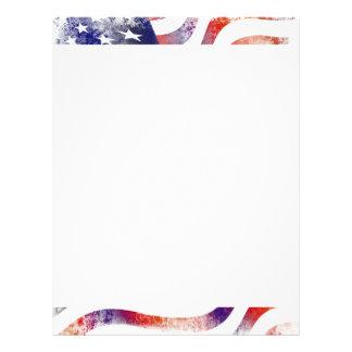 American Flag patriotic letterhead