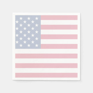 American Flag Patriotic Paper Cocktail Napkins Disposable Napkins