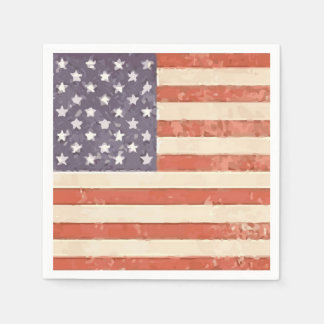 American Flag Patriotic Paper Napkins