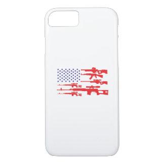 American Flag Patriotic Usa Pride Gun A Pro Gun iPhone 8/7 Case