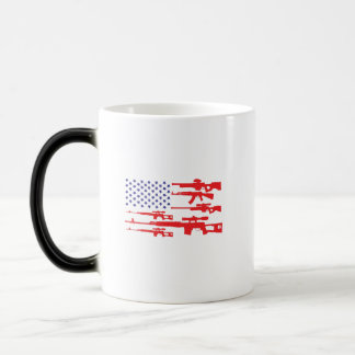 American Flag Patriotic Usa Pride Gun A Pro Gun Magic Mug