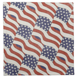 American Flag Pattern Cloth Napkins (set of 4)