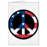 American Flag Peace Greeting Cards
