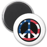 American Flag Peace Magnets