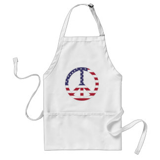 AMERICAN FLAG PEACE SIGN STANDARD APRON