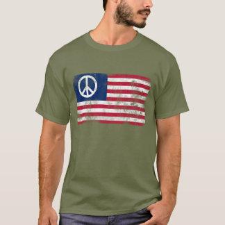 American Flag Peace T-Shirt